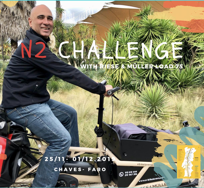 Challenge Estrada Nacional 2 com CargoBike Load 75