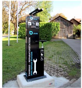 Estação de reparação para bicicletas